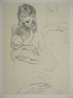 Maternity : Mother and Child - Lithograph, 1946