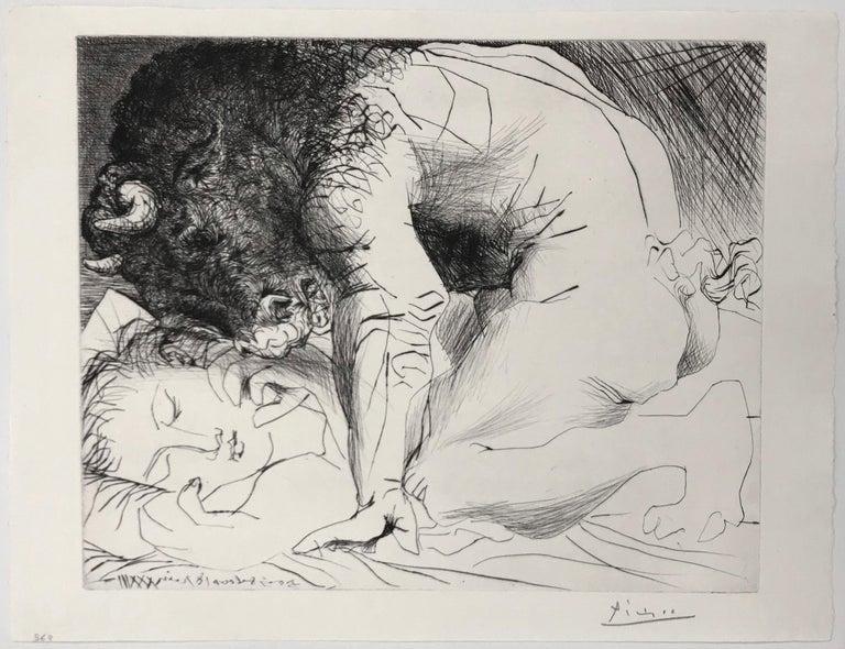MINOTAURE CARESSANT UNE DORMEUSE (BLOCH 201) - Print by Pablo Picasso