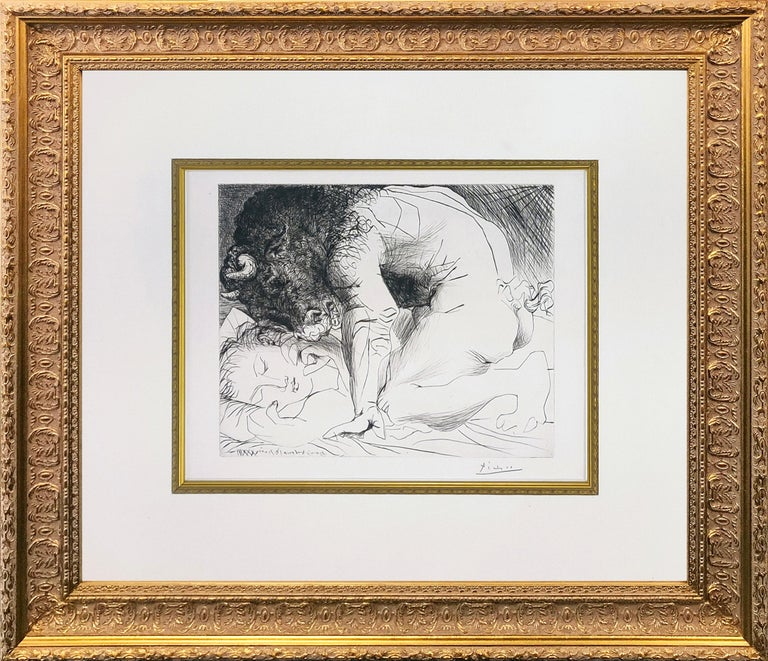 Pablo Picasso Figurative Print - MINOTAURE CARESSANT UNE DORMEUSE (BLOCH 201)