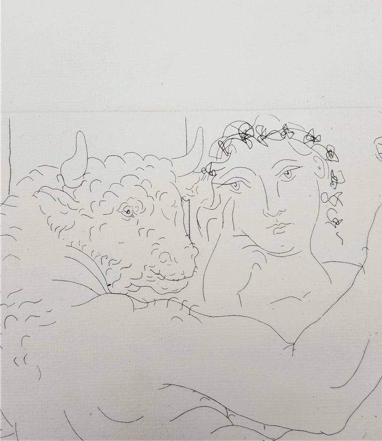 Minotaure, une Coupe à la Main, et Jeune Femme (Minotaur, a Cup in Hand...) For Sale 6