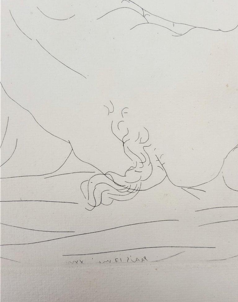 Minotaure, une Coupe à la Main, et Jeune Femme (Minotaur, a Cup in Hand...) For Sale 7