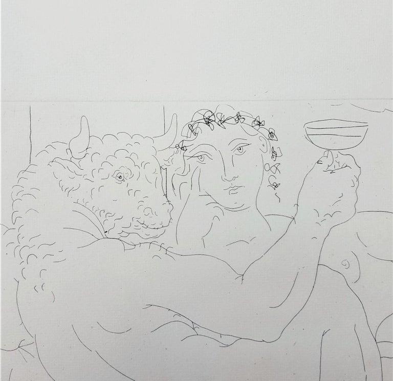 Minotaure, une Coupe à la Main, et Jeune Femme (Minotaur, a Cup in Hand...) For Sale 8