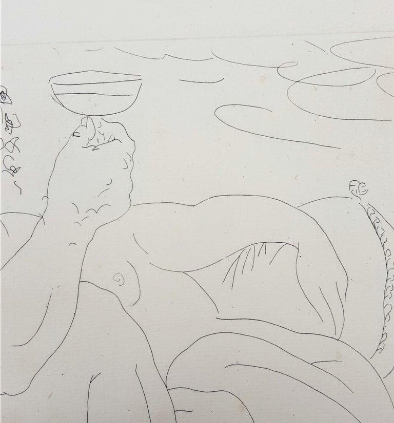Minotaure, une Coupe à la Main, et Jeune Femme (Minotaur, a Cup in Hand...) For Sale 9