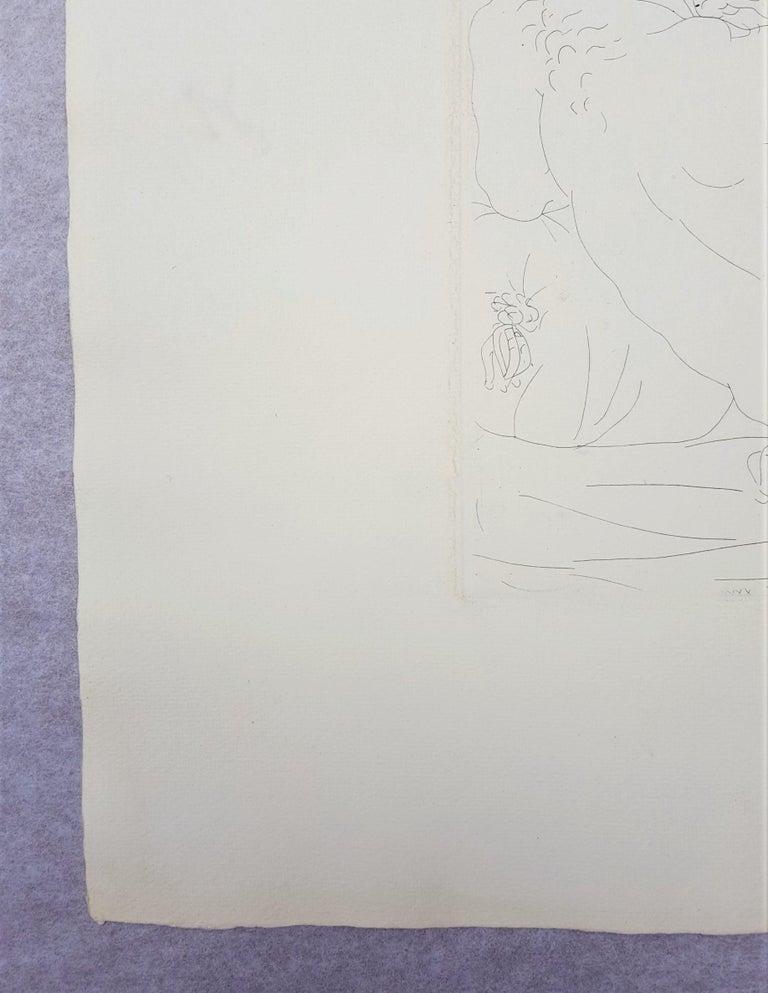 Minotaure, une Coupe à la Main, et Jeune Femme (Minotaur, a Cup in Hand...) - Gray Nude Print by Pablo Picasso