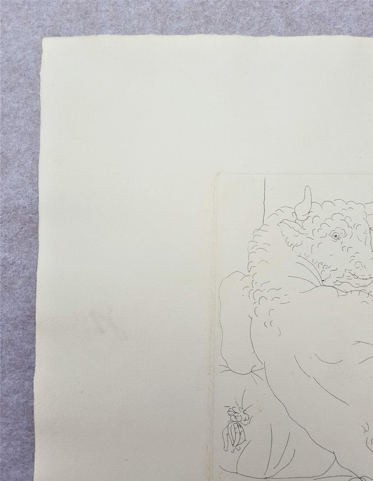 An original signed etching on handmade Montval laid paper by Spanish artist Pablo Picasso (1881-1973) titled