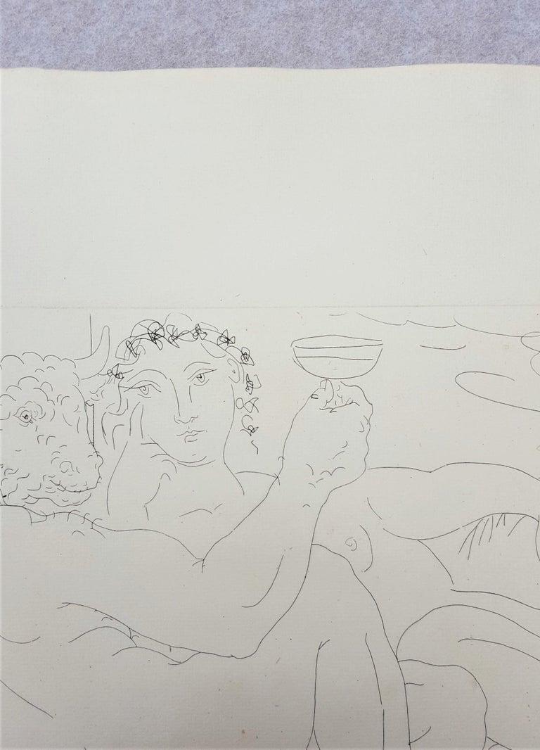 Minotaure, une Coupe à la Main, et Jeune Femme (Minotaur, a Cup in Hand...) For Sale 4