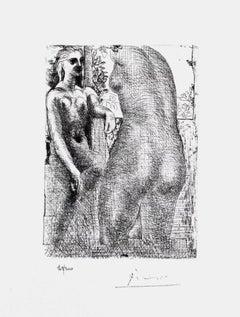Model and Sculptured Female Torso (The Vollard Suite)