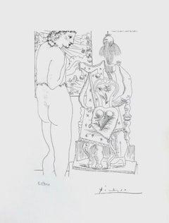 Model and Surrealist Sculpture (The Vollard Suite)