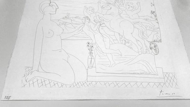MODELE CONTEMPLANT UN GROUPE SCULPTE (BLOCH 175) - Print by Pablo Picasso