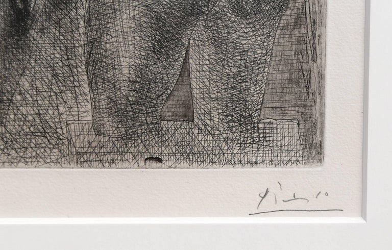 Modèle et grande sculpture de dos, from: La Suite Vollard - Print by Pablo Picasso