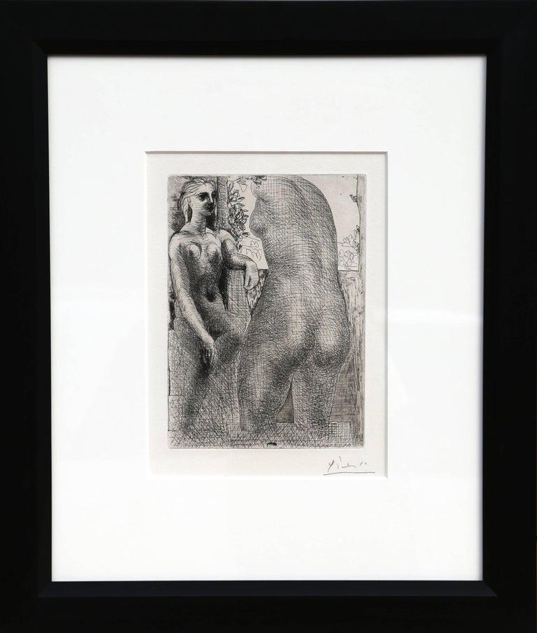 Pablo Picasso Figurative Print - Modèle et grande sculpture de dos, from: La Suite Vollard