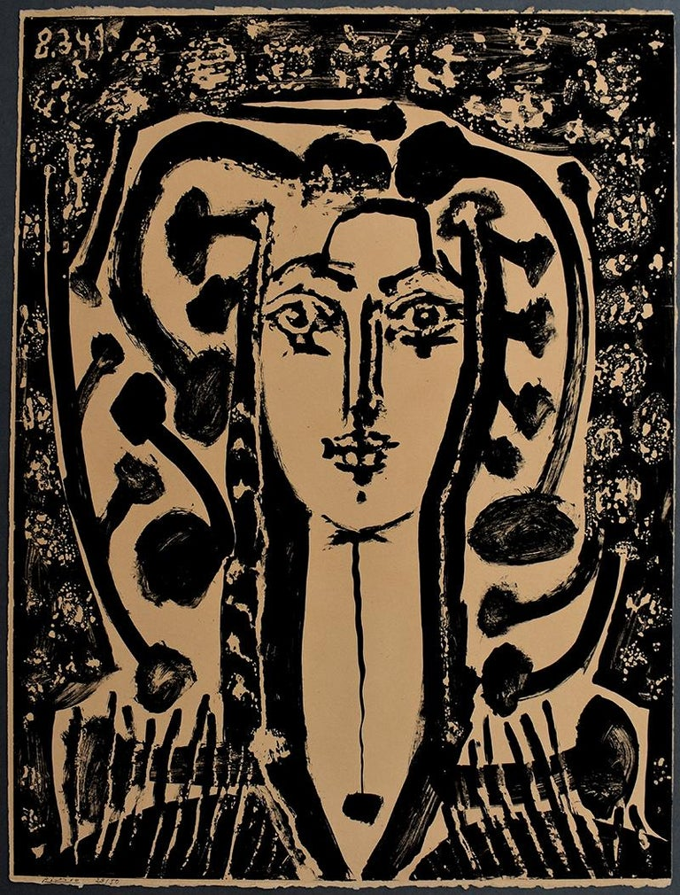 Modern Style Bust (Francoise)  Buste Style Moderne - French Spanish Portait - Print by Pablo Picasso