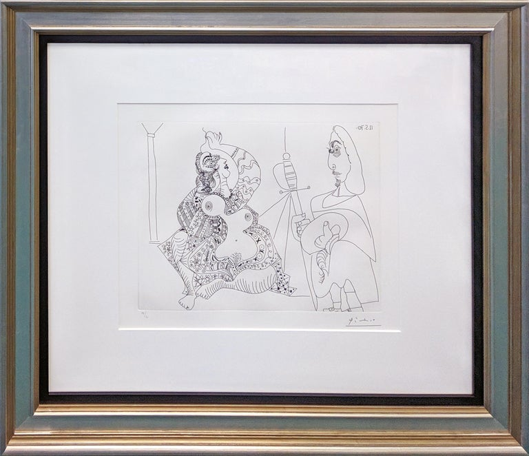 MOUSQUETAIRE ET ODALISQUE, MEDUSE, PLATE 47 FROM SERIES 156 (BLOCH 1902) - Print by Pablo Picasso