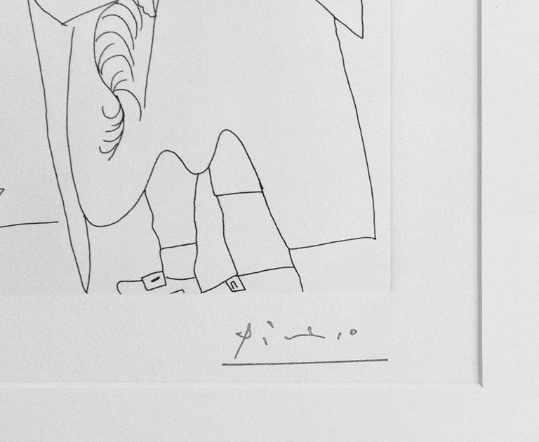 MOUSQUETAIRE ET ODALISQUE, MEDUSE, PLATE 47 FROM SERIES 156 (BLOCH 1902) - Cubist Print by Pablo Picasso