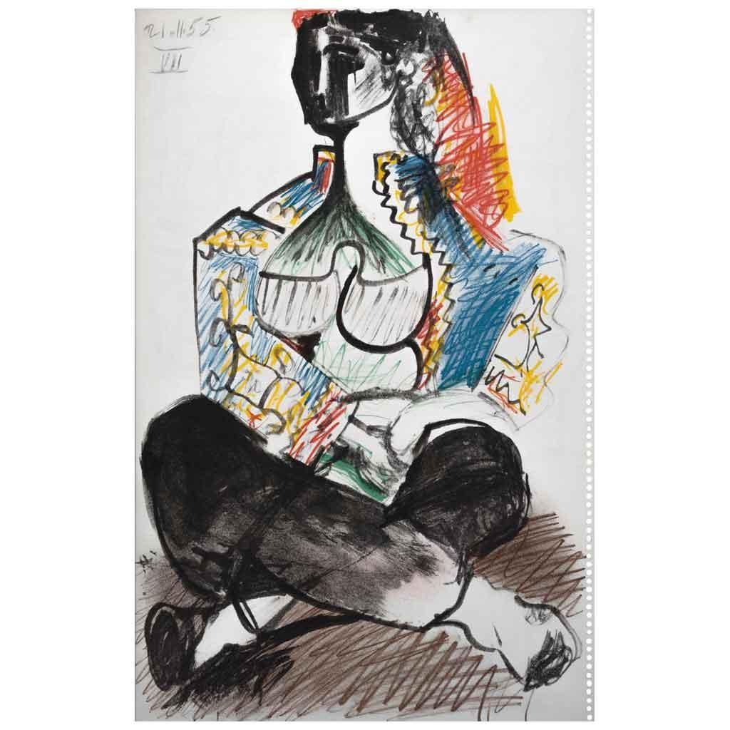 Mujer, de la carpeta Carnet 1 de noviembre de 1955 - 14 gennaio 1956