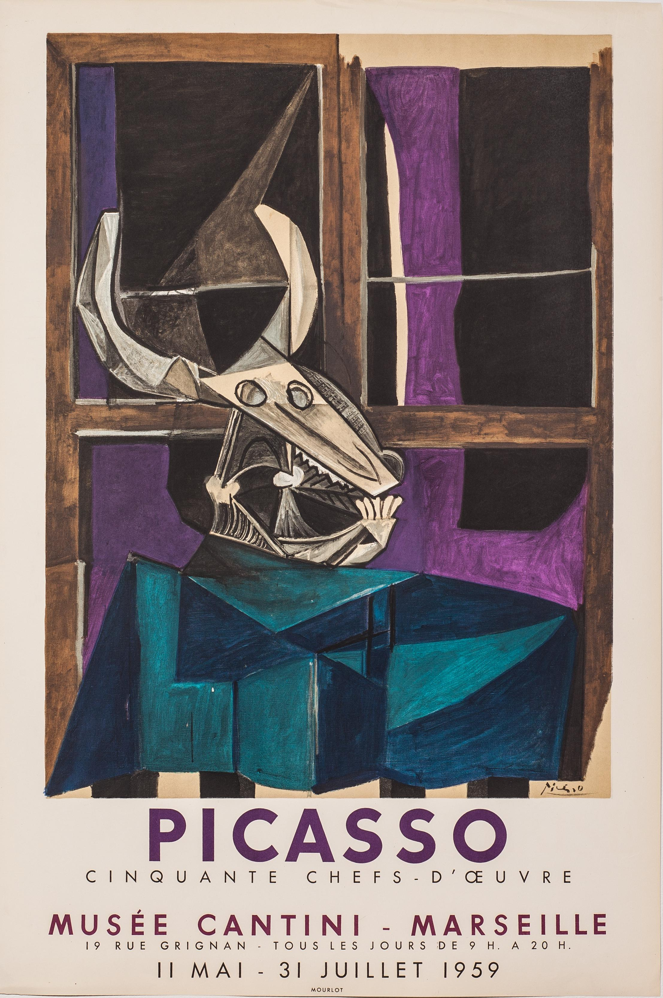 Musee Cantini - Marseille, Pablo Picasso exhibition poster