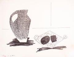Nature Morte au Pot de Grès - Original Lithograph by Pablo Picasso - 1947