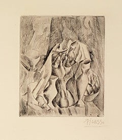 Nature Morte, Compotier - Etching and Drypoint by Pablo Picasso - 1909