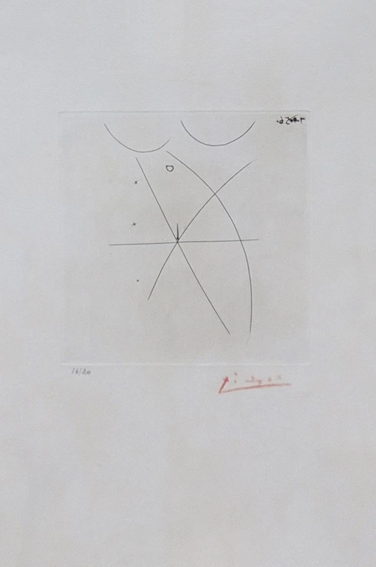 Pablo Picasso Abstract Print - NU II: ONE PLATE FROM ESTAMPES ORIGINALES, ALBUM A (BLOCH 805)
