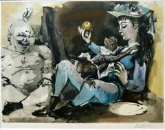 Nude Man, Girl and Monkey