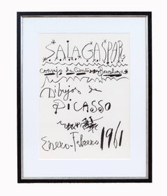 Original exhibition Poster - Pablo Picasso - 1961 - Salagaspar - Exhibition