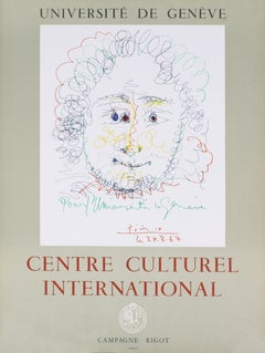 "After Picasso-Centre Culturel International-25"" x 19""-poster-1967-Cubism"