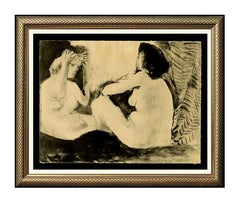 Pablo Picasso Color Lithograph Nude Female Artwork Homme Couche Femme Signed SBO