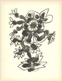 """Pablo Picasso-De Memoire D'Homme II-13"""" x 9.75""""-Lithograph-1950-Cubism-Gray"""