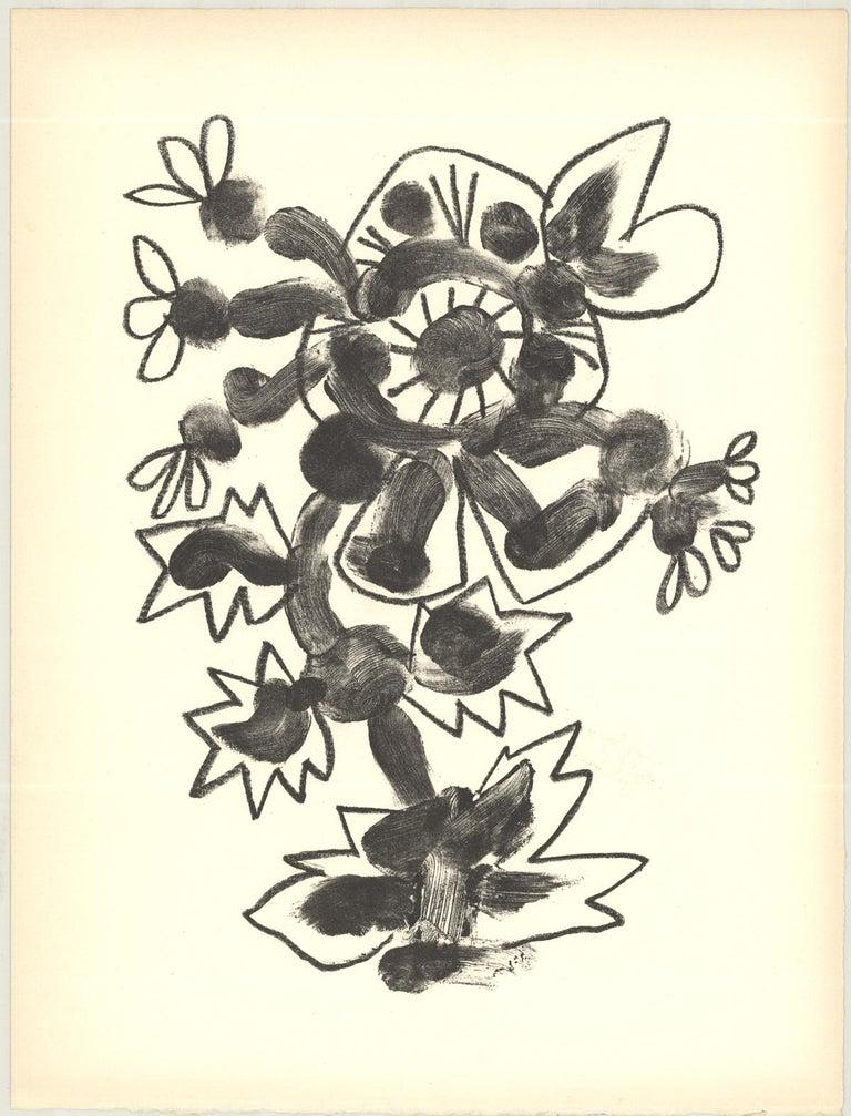 """Pablo Picasso-De Memoire D'Homme II-13"""" x 9.75""""-Lithograph-1950-Cubism-Gray - Print by Pablo Picasso"""