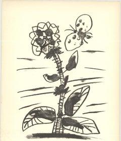 """Pablo Picasso-De Memoire D'Homme IX-13"""" x 9.75""""-Lithograph-1950-Cubism-Gray-flow"""