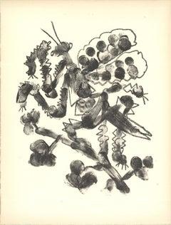 """Pablo Picasso-De Memoire D'Homme VI-13"""" x 9.75""""-Lithograph-1950-Cubism-Gray"""