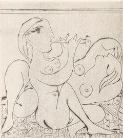 Pablo Picasso: Flûtiste et dormeuse II (Ba292)