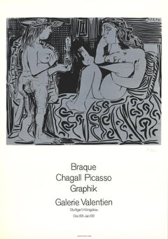 "Galerie Valentien-31.5"" x 22""-Poster-1968-Cubism-Black & White"