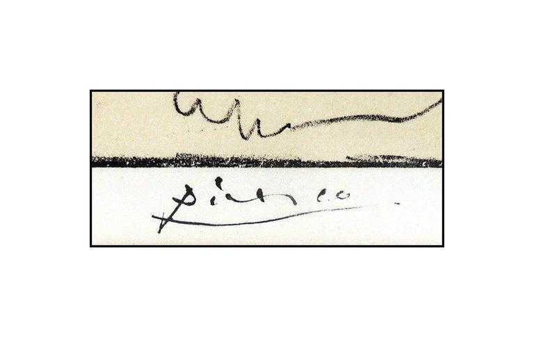 Pablo Picasso La Danse Des Faunes Lithograph Nude Cubism Portrait Signed Artwork - Beige Nude Print by Pablo Picasso