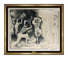 Pablo Picasso La Danse Des Faunes Lithograph Nude Cubism Portrait Signed Artwork