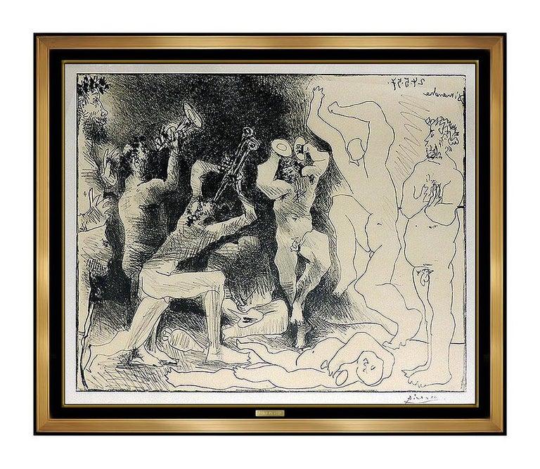 Pablo Picasso La Danse Des Faunes Lithograph Nude Cubism Portrait Signed Artwork - Print by Pablo Picasso