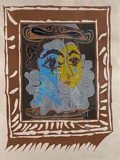 """Pablo Picasso, """"La Femme au Chapeau"""", original linocut"""