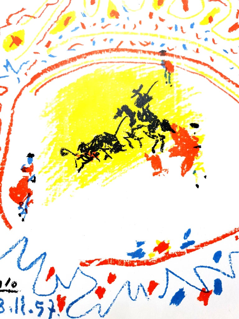 Pablo Picasso - La Petite Corrida - Original Lithograph For Sale 1