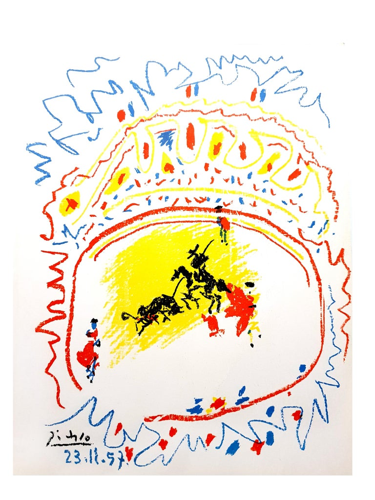 Pablo Picasso - La Petite Corrida - Original Lithograph For Sale 2