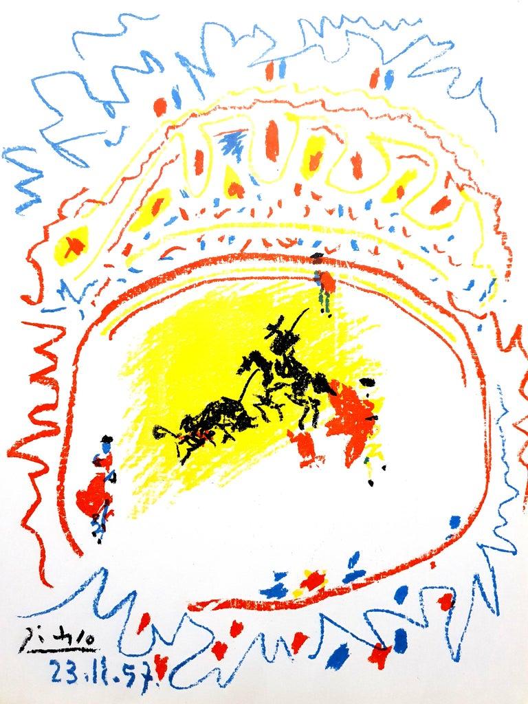 Pablo Picasso - La Petite Corrida - Original Lithograph - Print by Pablo Picasso