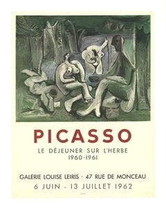 """Pablo Picasso-Le Dejeuner Sur L'Herbe-26.75"""" x 20.5""""-Lithograph-1962-Cubism"""
