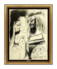 Pablo Picasso Le Vieux Roi Color Lithograph Nude Female Portrait Artwork Signed