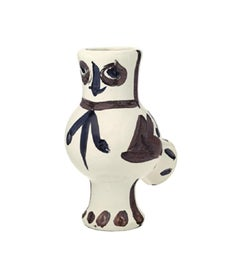 Pablo Picasso Madoura Ceramic Pitcher - Chouette aux taches, Ramié 120