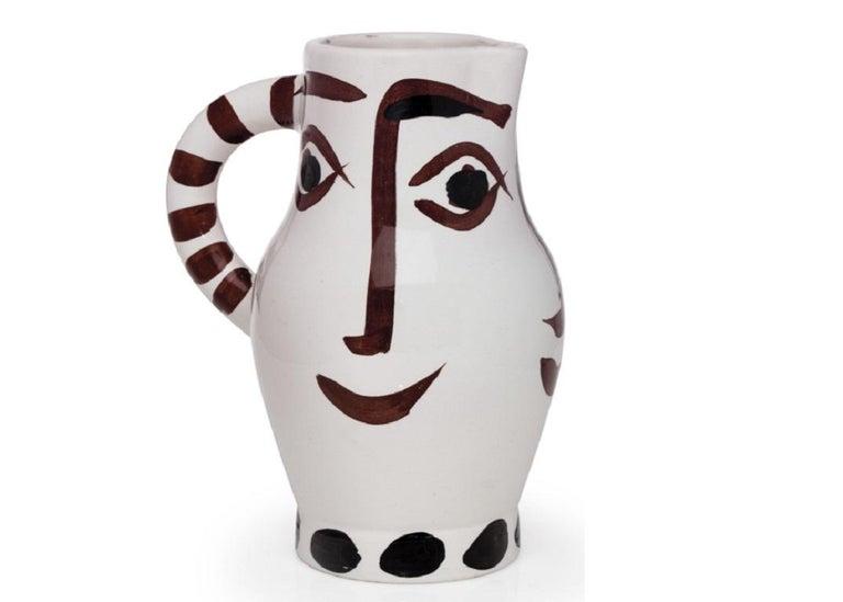 Pablo Picasso Madoura Ceramic Pitcher - Quatre visages, Ramié 436 - Print by Pablo Picasso