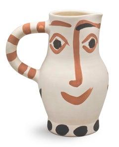 Pablo Picasso Madoura Ceramic Pitcher - Quatre visages Ramié 437