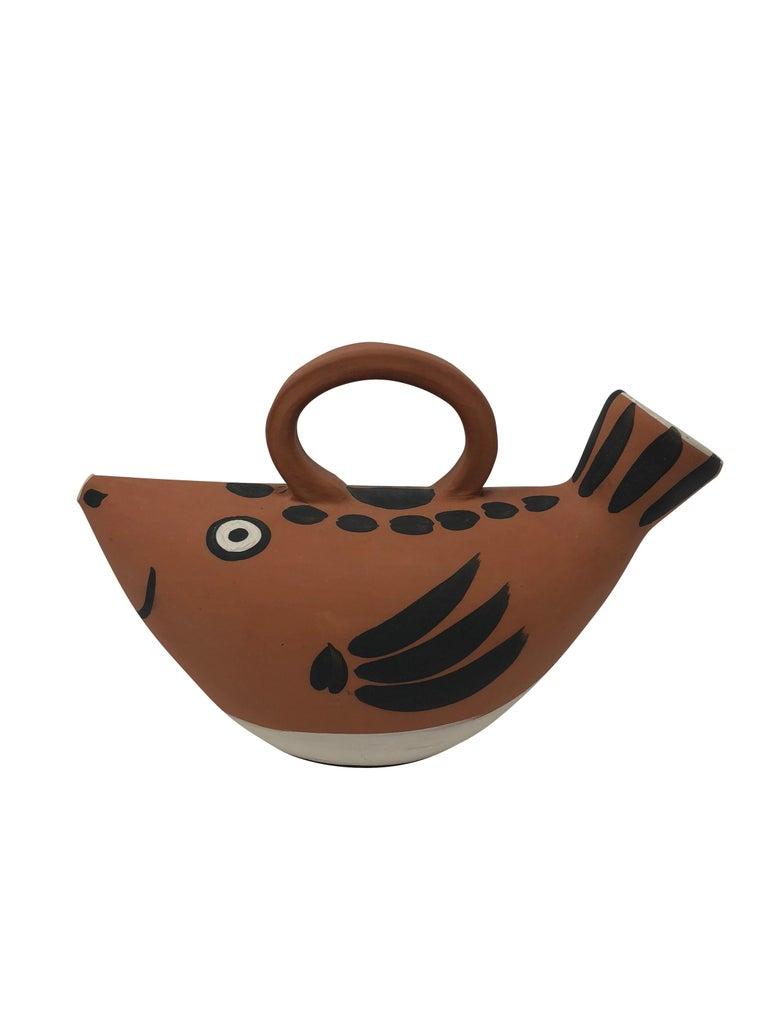 Pablo Picasso Madoura Ceramic Pitcher - Sujet poisson, Ramié 139 For Sale 1
