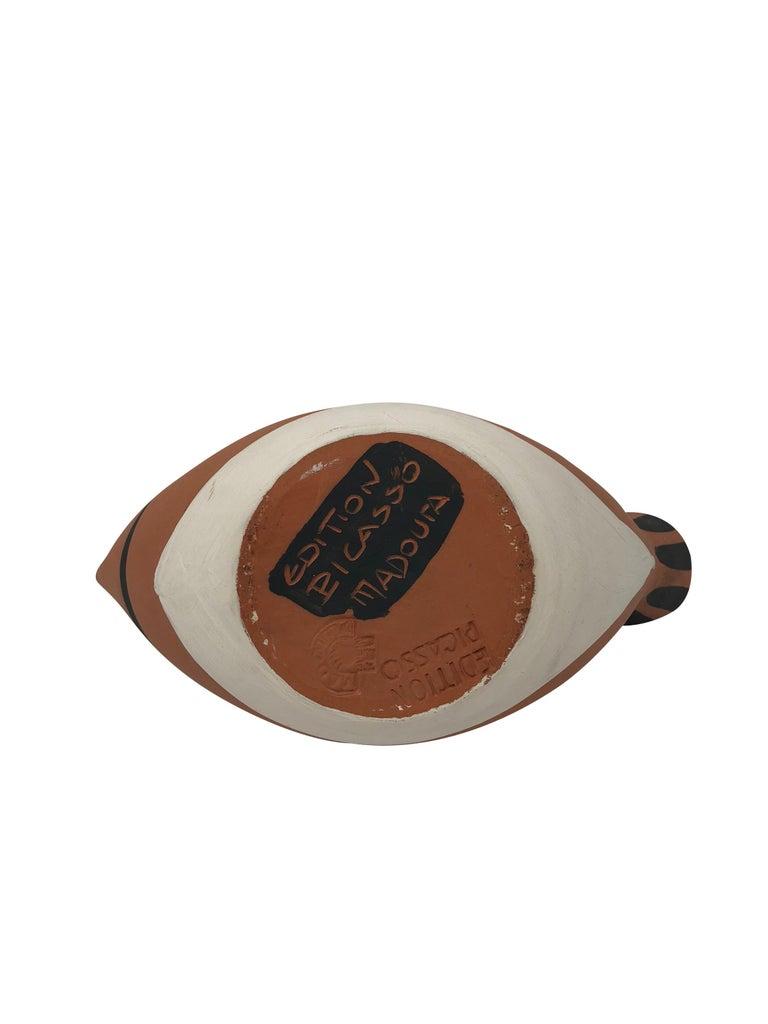 Pablo Picasso Madoura Ceramic Pitcher - Sujet poisson, Ramié 139 For Sale 2