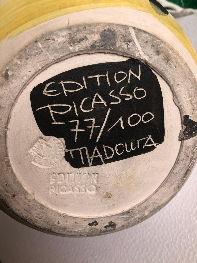 This Picasso ceramic plate 'Taureau' Ramié 255