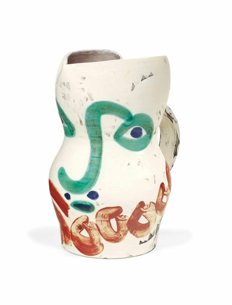 Pablo Picasso Madoura Ceramic Pitcher- Visage aux cercles Ramié 612 - Print by Pablo Picasso