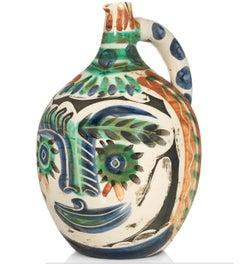 Pablo Picasso Madoura Ceramic Pitcher - Visage aux yeux rieurs Ramié 608